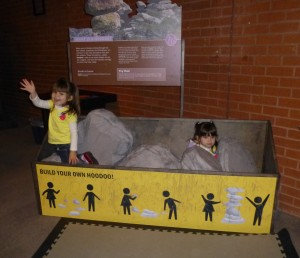 Enjoying the rock exhibit at one of our local museums (Flandrau Planetarium actually)