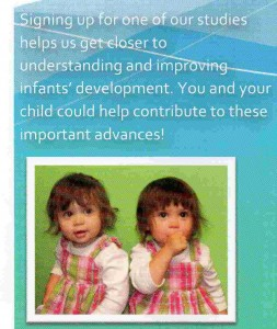 My girls in a brochure for one of the labs we've attended.  I was such a proud mama when I saw their picture in it.