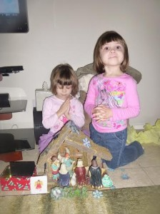This is why it's a good idea to have a children's nativity.... otherwise they will play with yours.