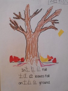 Fall sight word the
