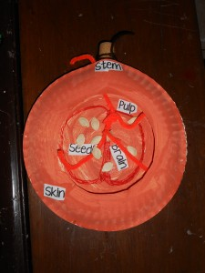 Parts of pumpkin craft