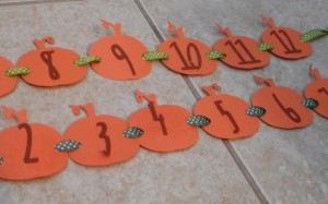 pumpkin number line