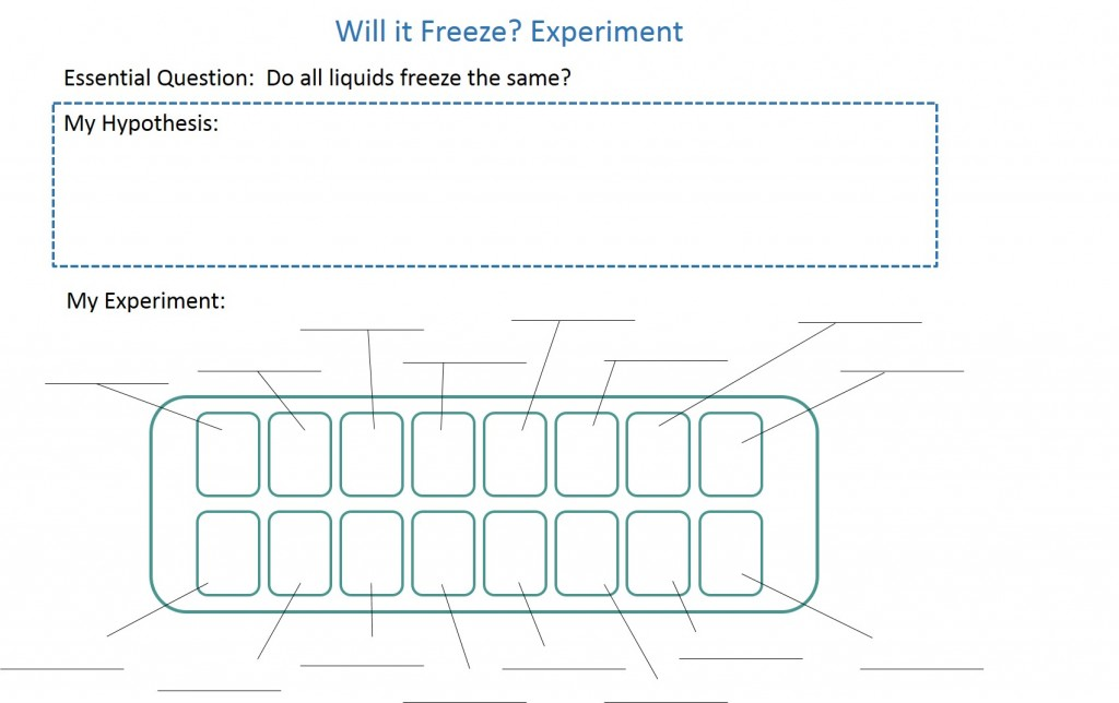 Freezing experiment