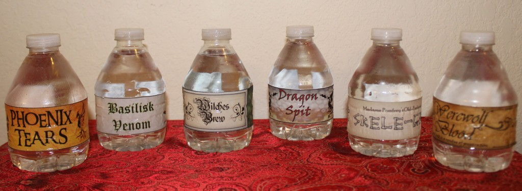 Halloween water bottles