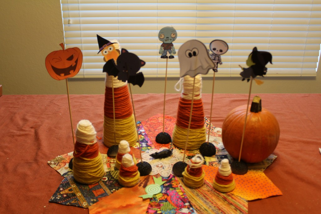 Halloween table top decorations and clip art